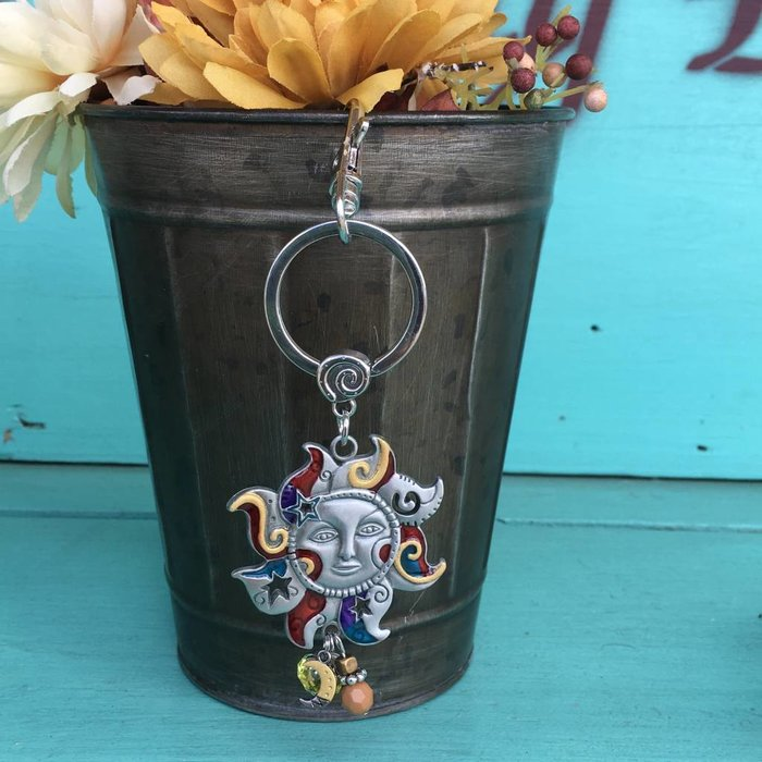 Sun Color Art Key Chain