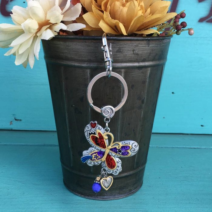 Butterfly Color Art Key Chain