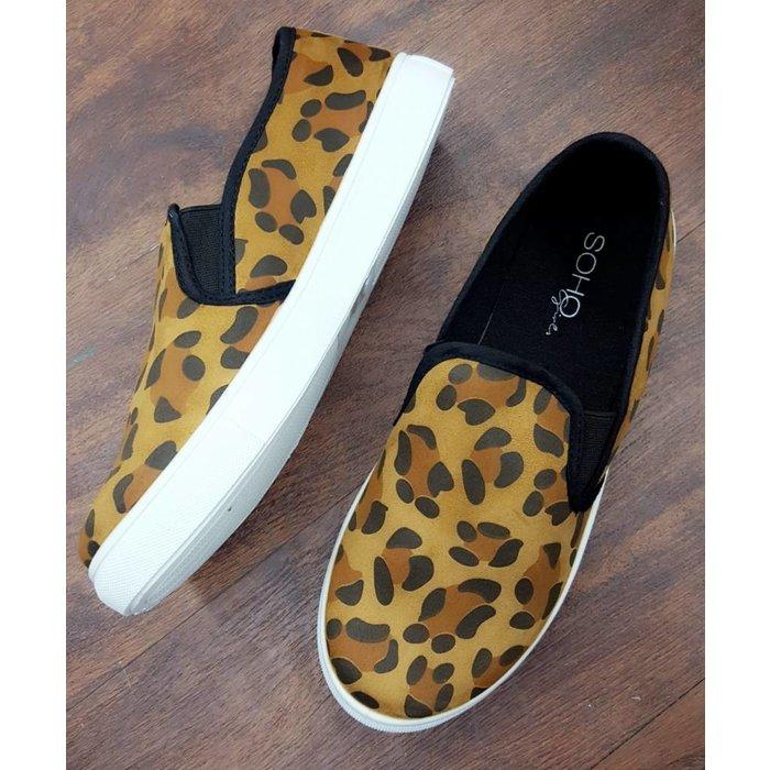Leopard Slip On Tennis Shoes