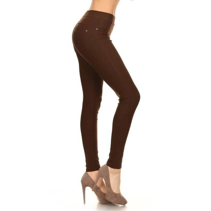 Brown Jeggings - MISSES ONE SIZE