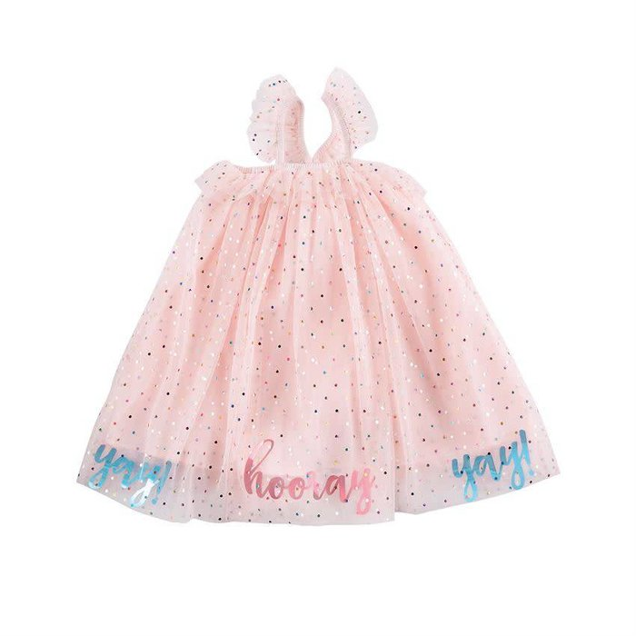 Pink Yay Mesh Overlay Party Dress (12M - 5T)