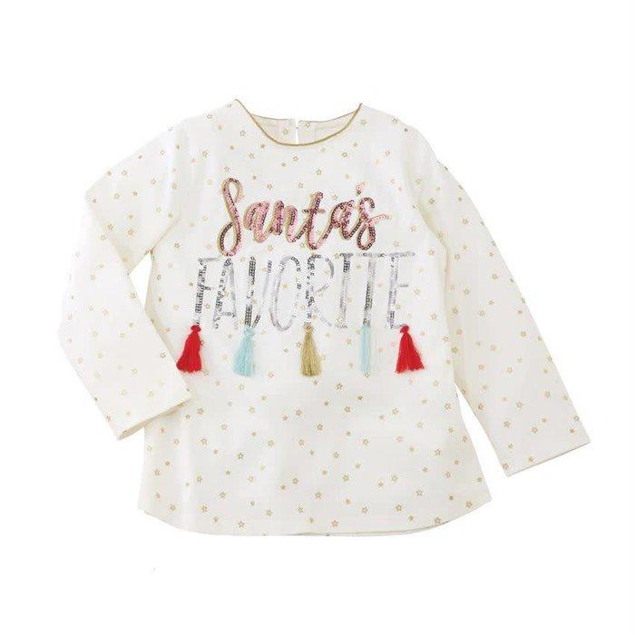 Santa's Favorite Sequin Tassel Tunic