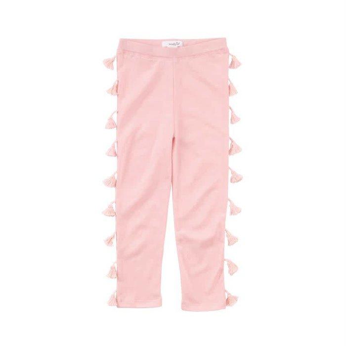 Pink Tassel Cotton Leggings