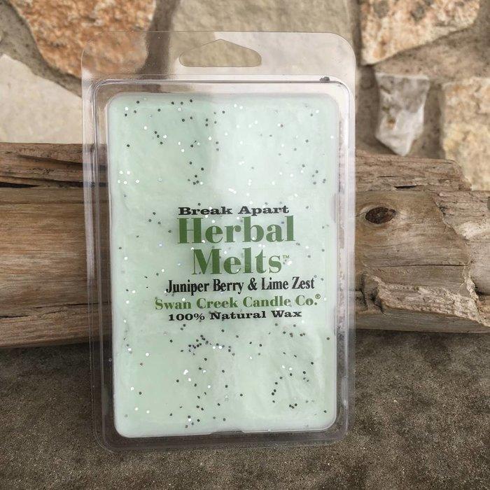 Swan Creek Juniper Berry & Lime Zest Herbal Melts