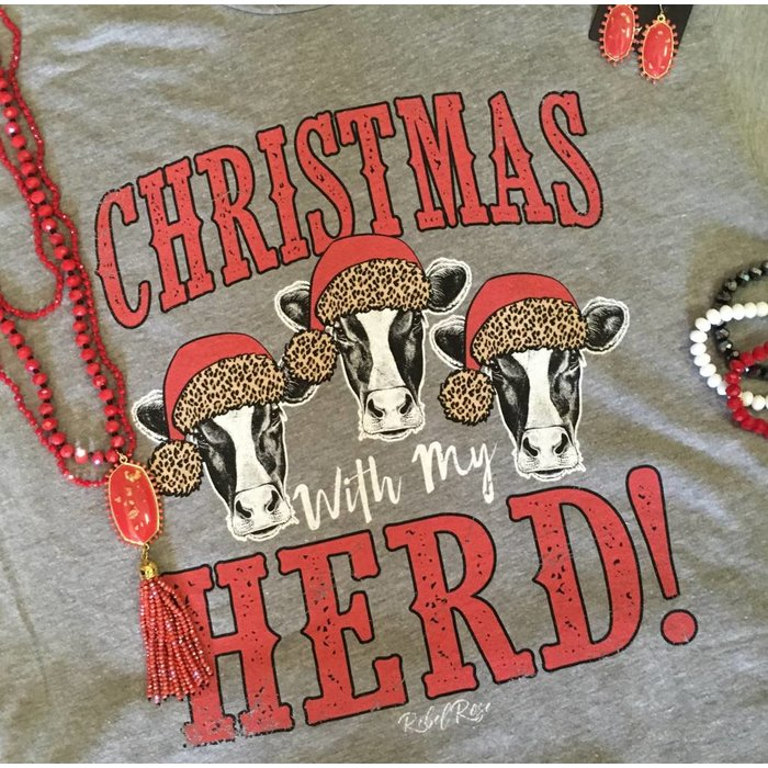 Grey Christmas with My Herd T-Shirt
