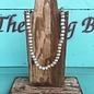 "Silver Teak Wood 42"" Beaded Necklace"