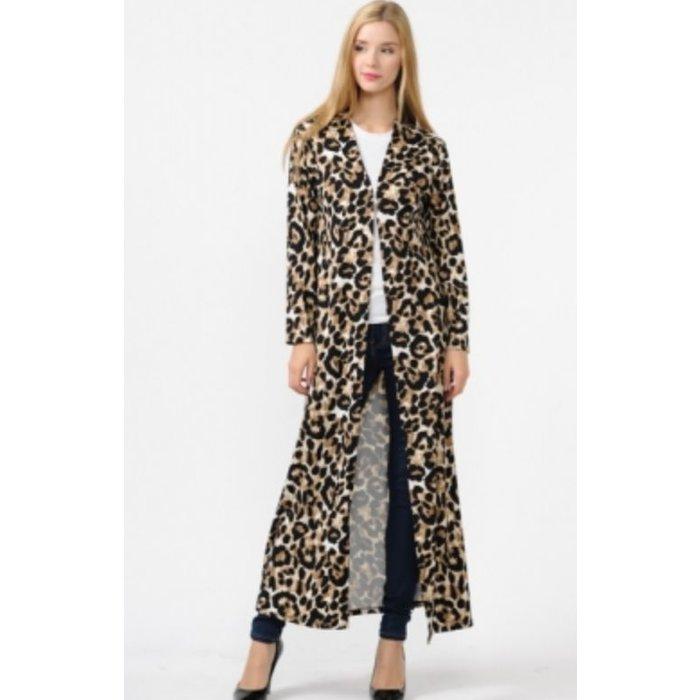 Leopard Print Duster Cardigan