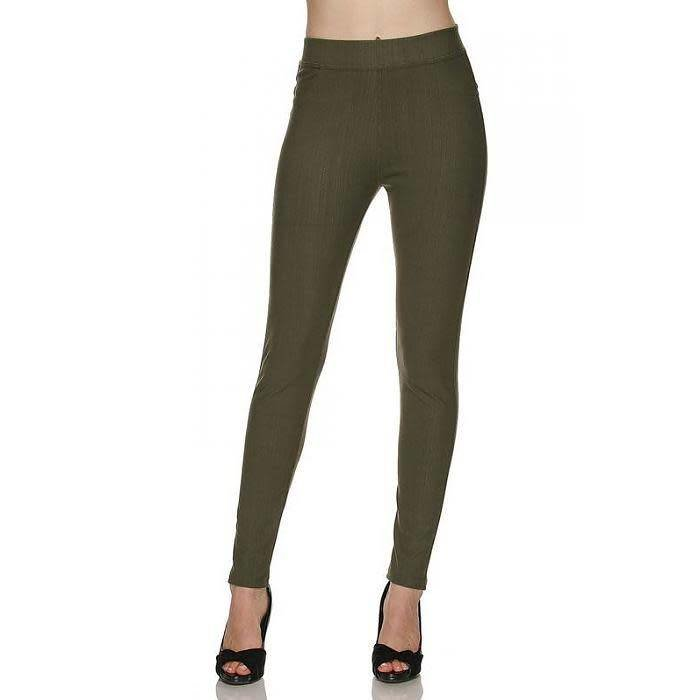 Plus Size Olive Jeggings