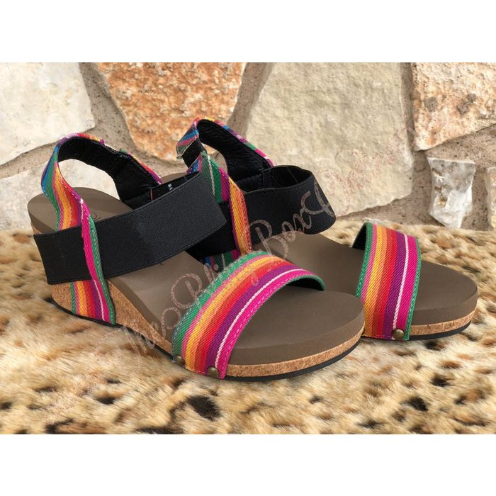 Rum Bright Multi Serape Wedges