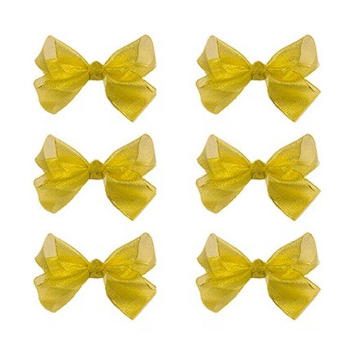 Medium Gold Glitter Bow