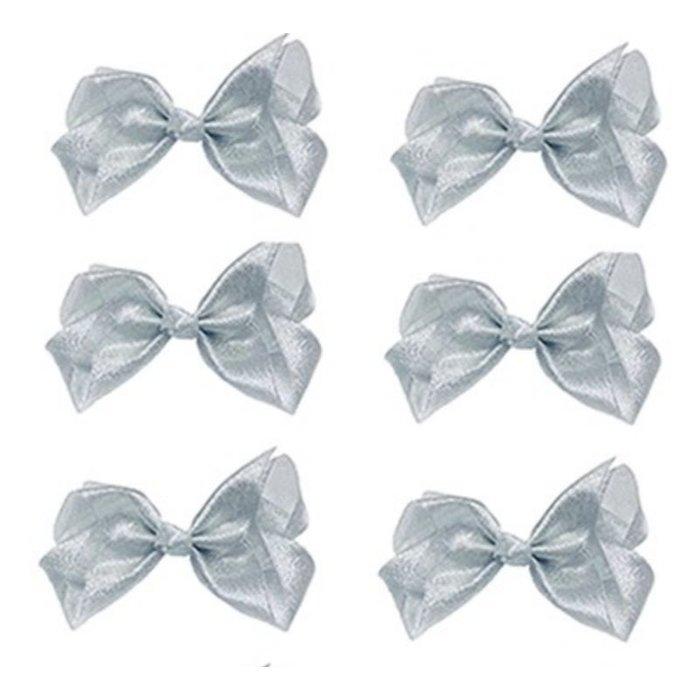 Medium Silver Glitter Bow
