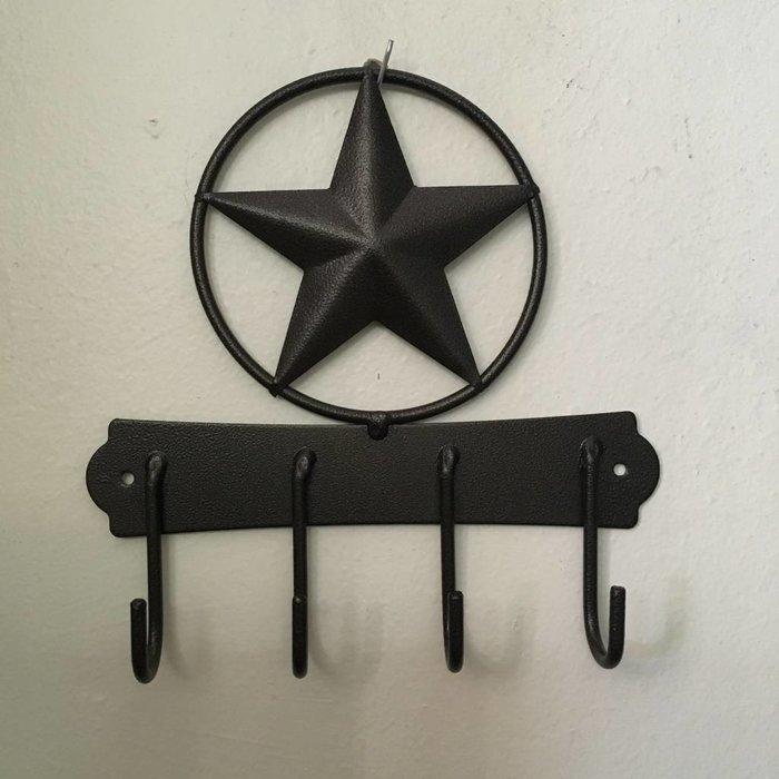 Rustic Texas Star Key Holder
