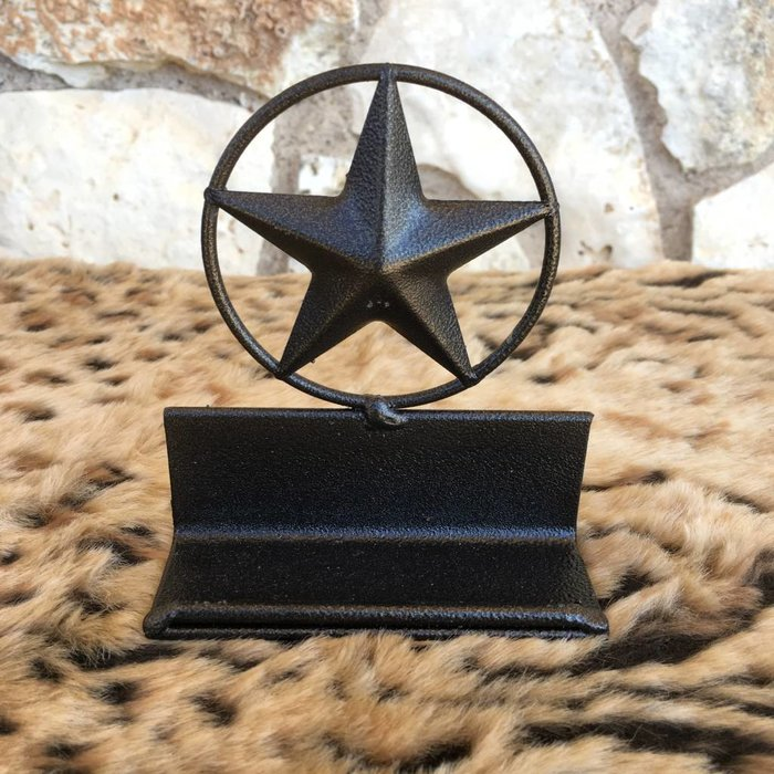 Rustic Texas Star Business Card Holder