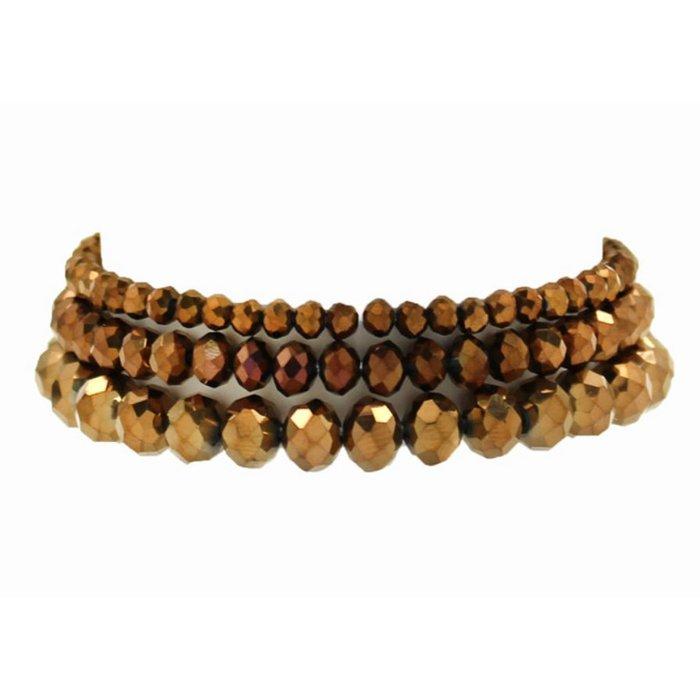 Bronze 3-Piece Stretch Bracelet Set