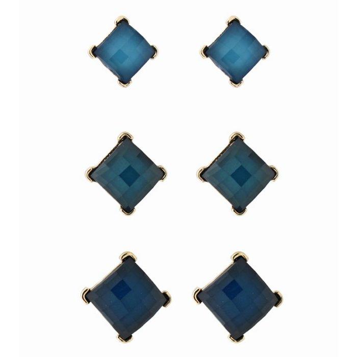 Blue Stud 3-Piece Set