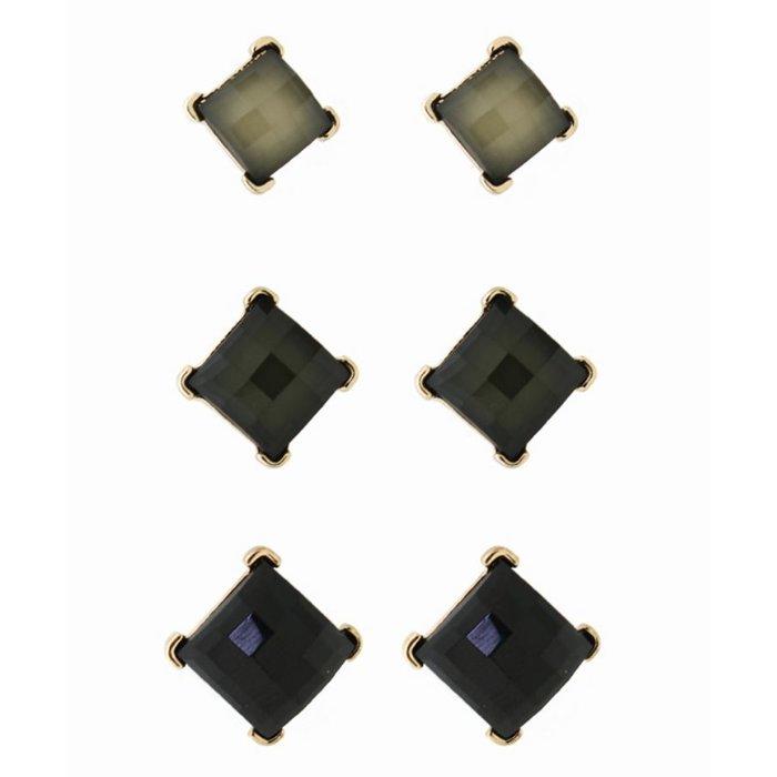 Black Stud 3-Piece Set