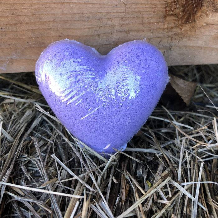 Purple Heart Bath Bombs - Lavender