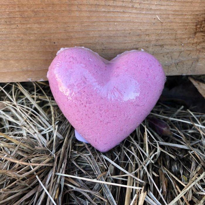 Pink Heart Bath Bomb - Japanese Blossom