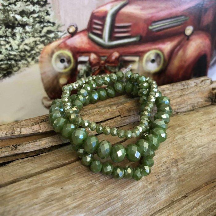 Olive AB 3-Piece Stretch Bracelet Set
