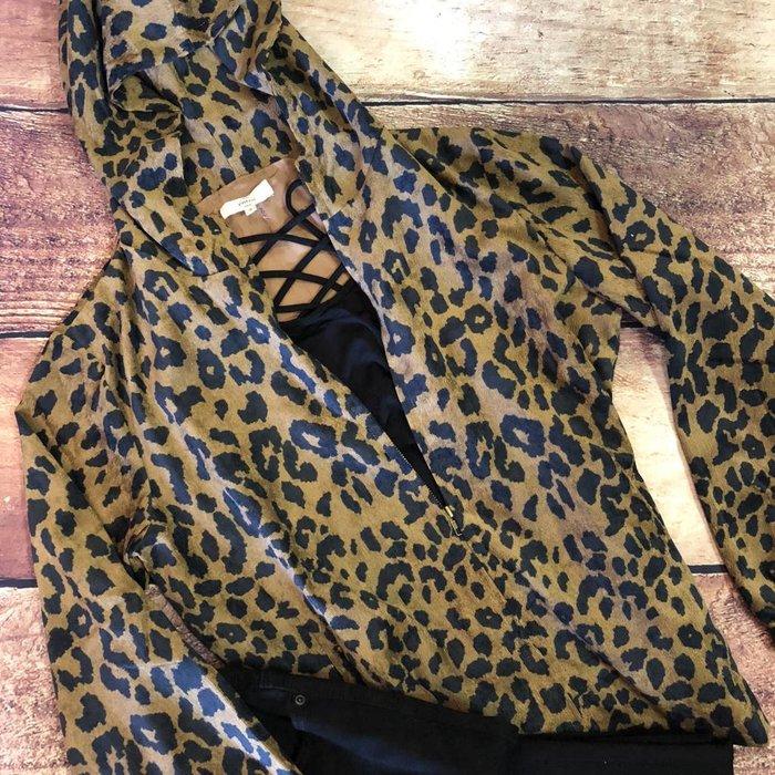 Corduroy Cheetah Hooded Jacket