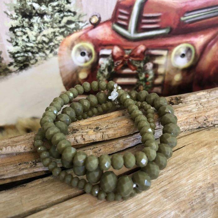 Olive 3 Piece Set Bracelets