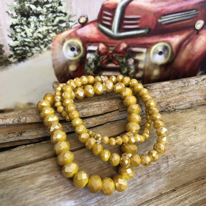 Mustard 3 Piece Set Bracelets