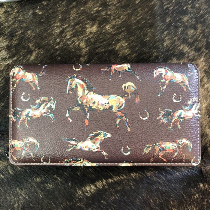 Brown Horse with Horseshoes Wallet