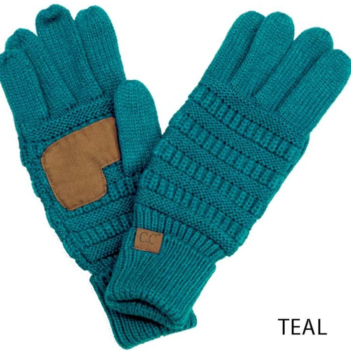 C.C. Teal Sweater SmartTips Gloves - ONE SIZE