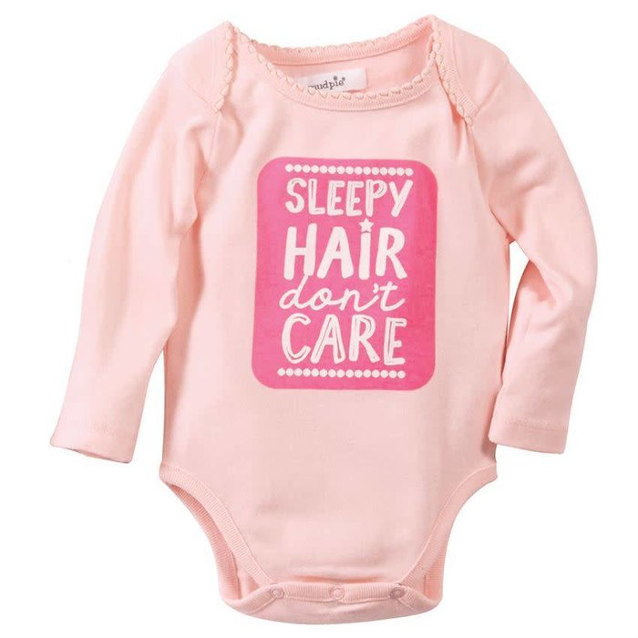 Sleepy Hair Dont Care Crawler Onesie 0-6 Mos
