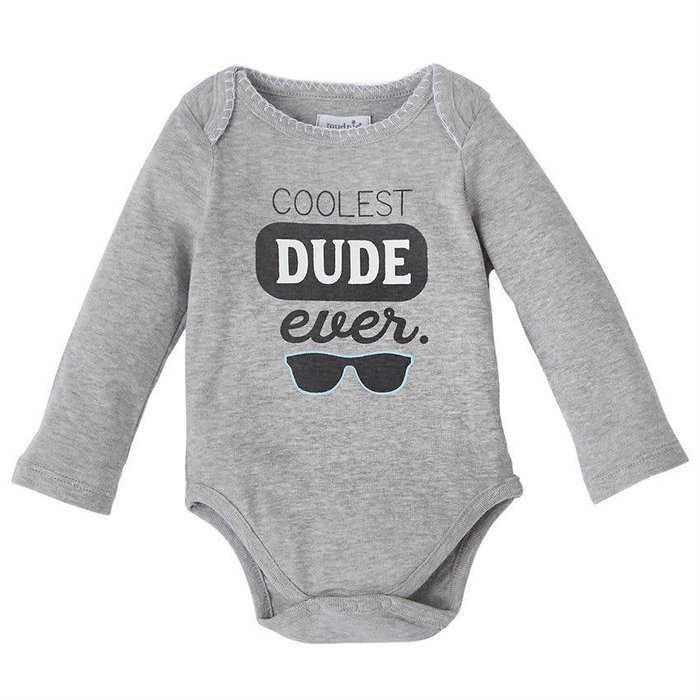 Coolest Dude Ever Crawler Onesie 0-6 Mos