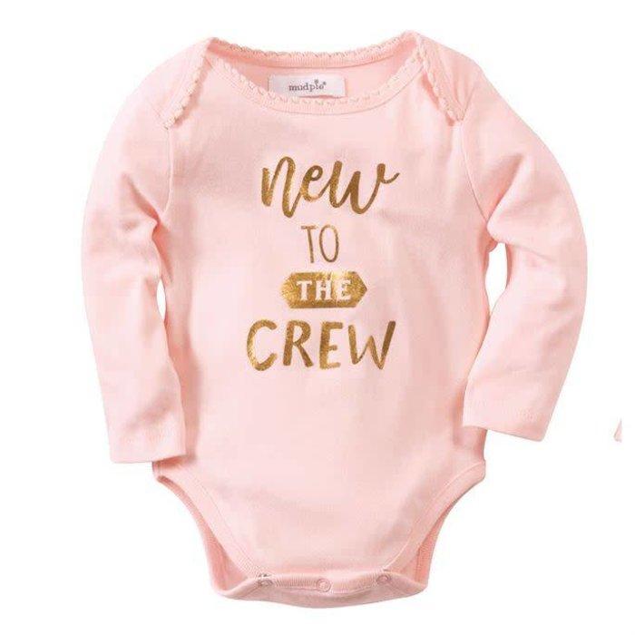 New To The Crew Crawler Onesie 0-6 Mos