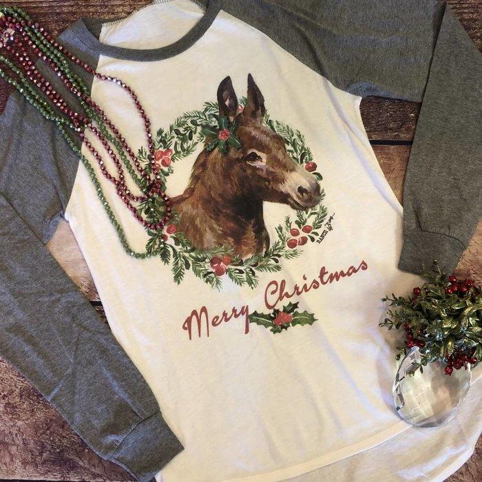 Donkey Christmas Long Sleeve Top