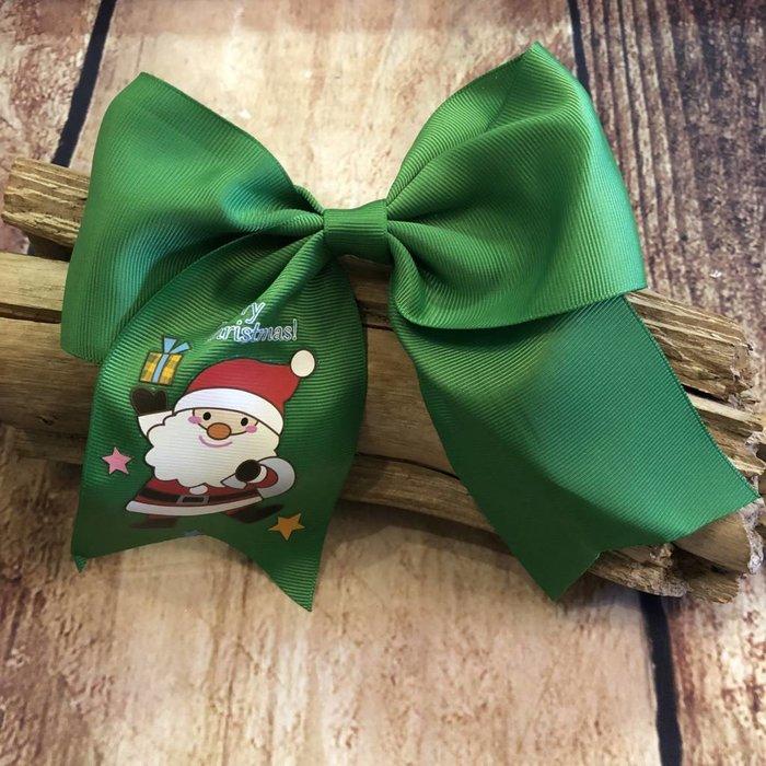 Green Santa Bow
