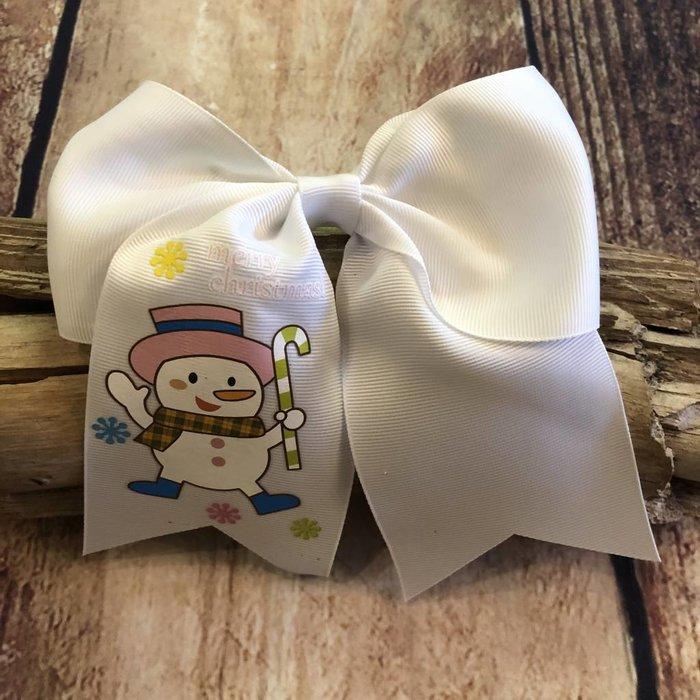 White Snowman Bow
