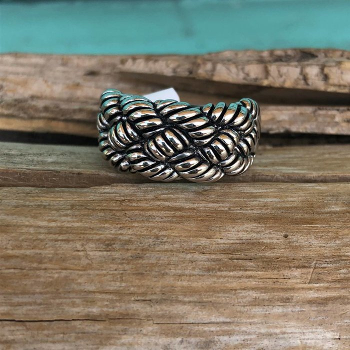 Braided Silver Plated Ring