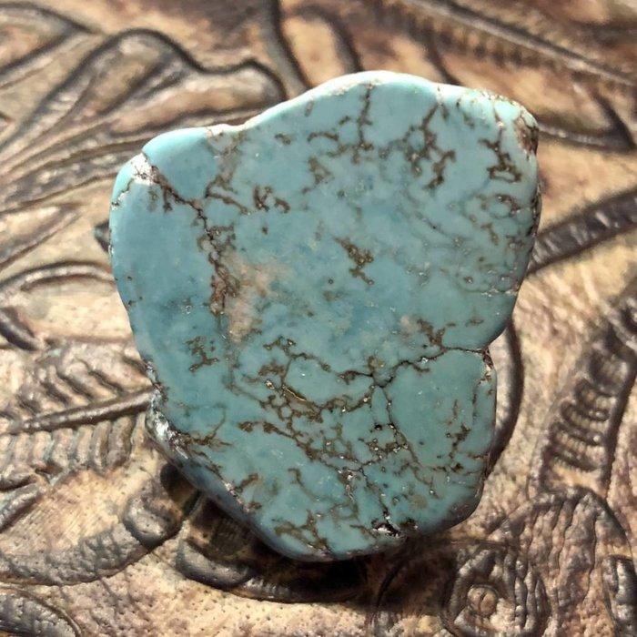 Turquoise Stone Slab Ring