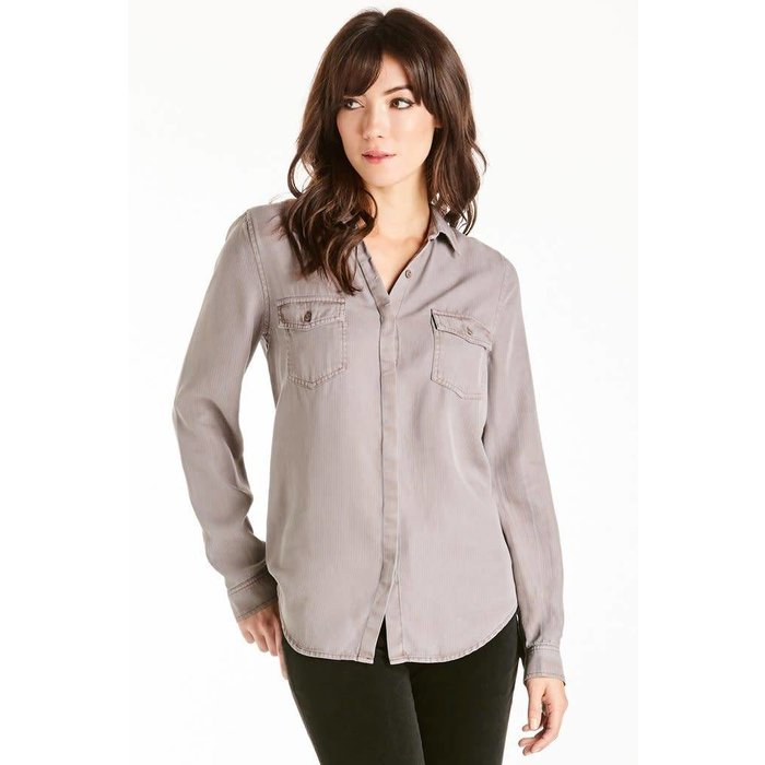 Fig Paige Long Sleeve Tie Back Shirt