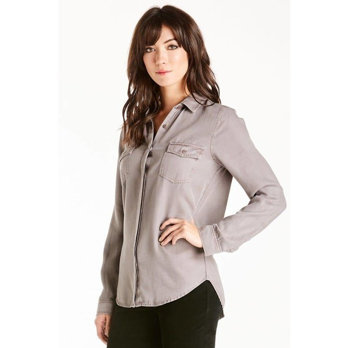 Fig Paige Long Sleeve Tie Back Shirt