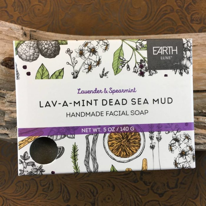 Lavender & Spearmint Lav - A - Mint Dead Sea Mud Handmade Facial Soap