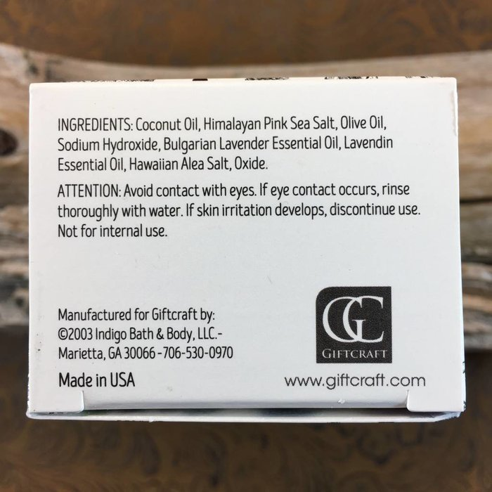 Bulgarian Lavender Himalayan Pink Salt Exfoliating Spa Bar by Earth Luxe