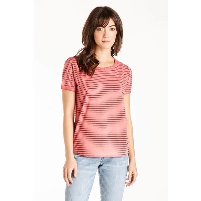 Sunset Coral Gabby Striped Tee