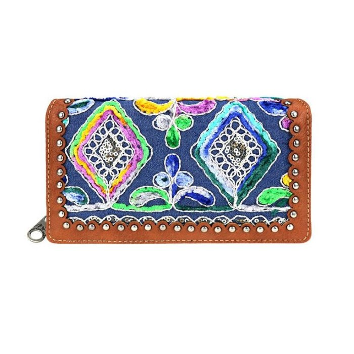 Turquoise Gypsy Embroidered Wallet
