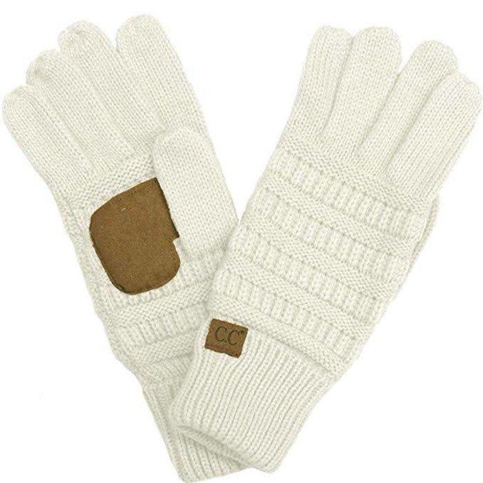 C.C. Ivory Smart Tip Knit Gloves
