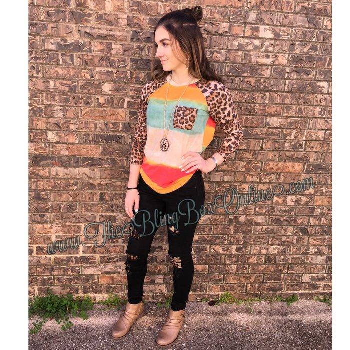 Bright Watercolor Leopard Tunic