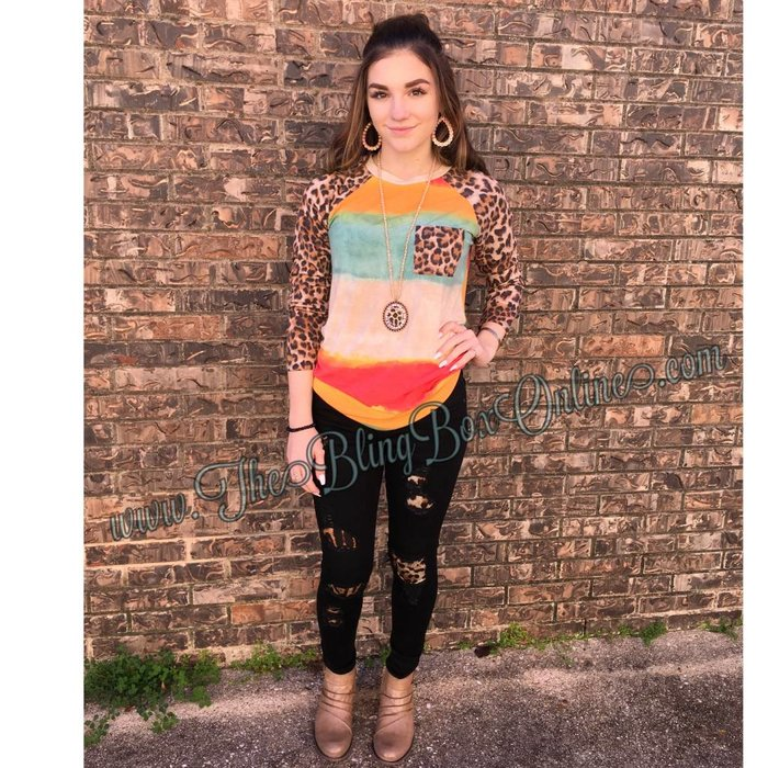 Bright Watercolor Leopard Tunic