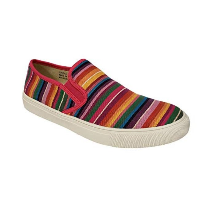 Bright Multi Jungle Slip on Tennis Shoe