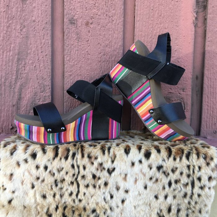 Bright Multi Color Agnus Wedge