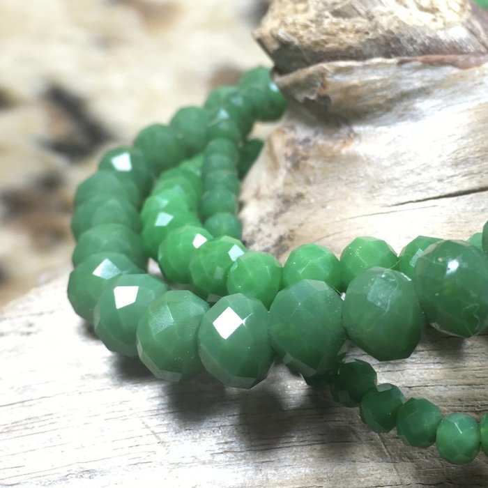 Green 3-Piece Stretch Bracelet Set