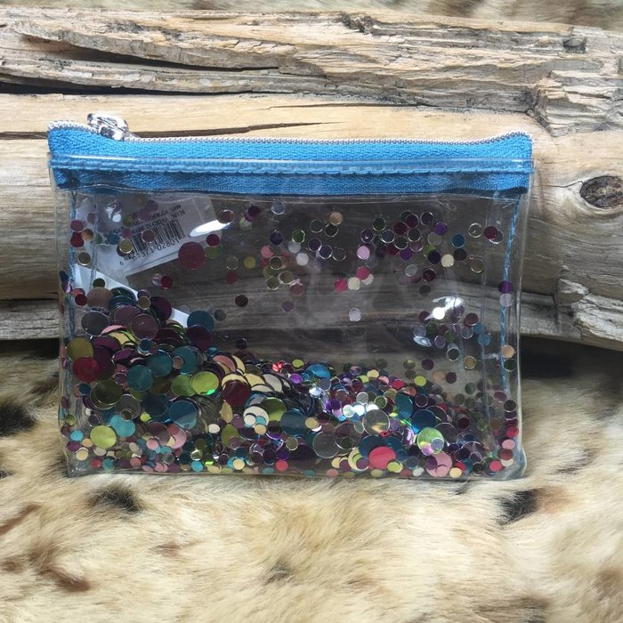 Turquoise Glitter Coin Purse
