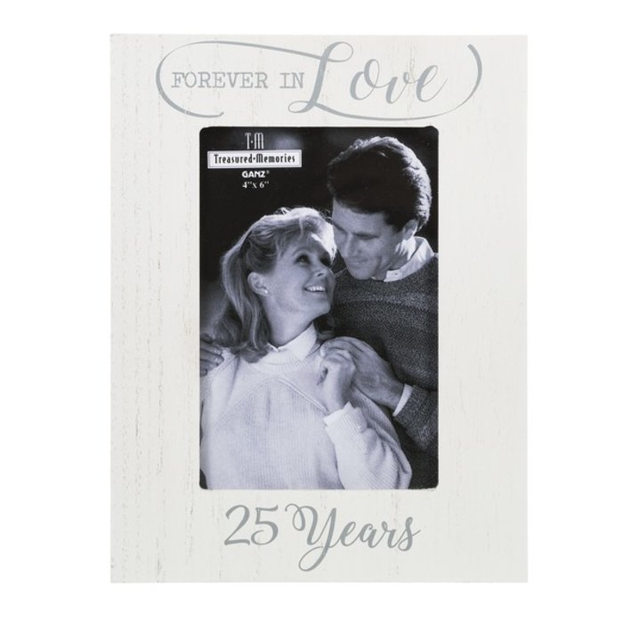 Forever in Love 25 Years Picture Frame